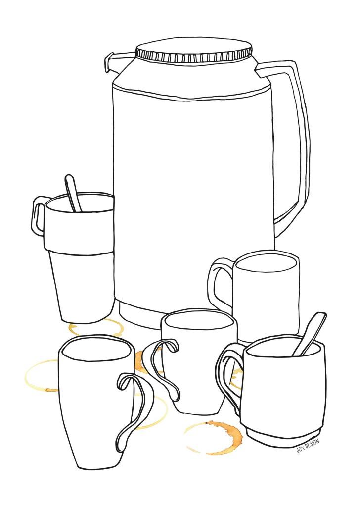Kaffe-färg