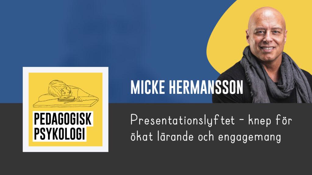 Micke Hermansson - Presentationslyftet - Pedagogiskt Ledarskap 2021